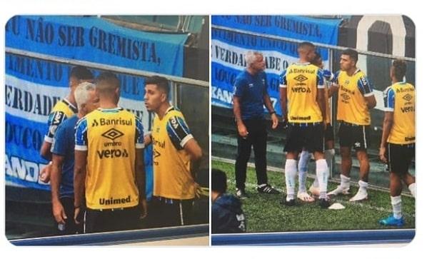 Pinares se recusou a entrar em campo contra o Santos
